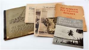 WWII THIRD REICH GERMAN PUBLICATION LOT STAMP BOOK