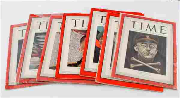 WWII TIME WEEKLY MAGAZINES 1941-1945 7 ISSUES