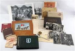 WWII GERMAN ARMY HITLER MIXED LOT OF ITEMS