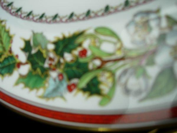 11175: SPODE CHRISTMAS ROSE CHINA  LOT OF 18 BEAUTIFUL  - 7