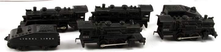 LOT OF FOUR VINTAGE POST WAR LIONEL LOCOMOTIVES