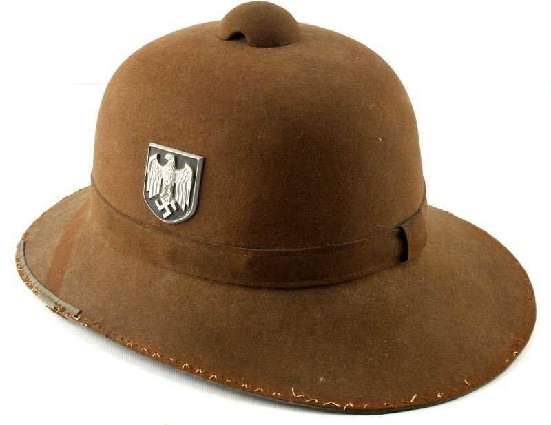 4775bcace0a54 WWII GERMAN PITH HELMET M40 TROPENHELM