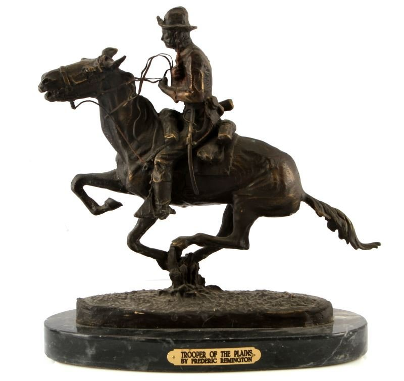 """AFTER FREDERICK REMINGTON """"TROOPER OF THE PLAINS"""""""