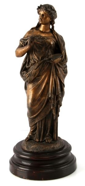 A CLASSICAL STYLE BRONZE OF THE MUSE OF PAINTING