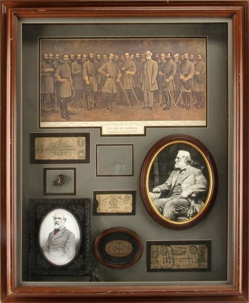 CONFEDERATE STATES CIVIL WAR SHADOW BOX 30 BY 36""