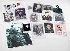 WWII GERMAN WAR HERO AUTOGRAPHED PHOTO LOT OF 16
