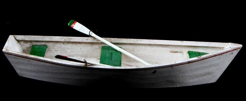 VINTAGE WOOD MODEL PRAM POND BOAT MODEL