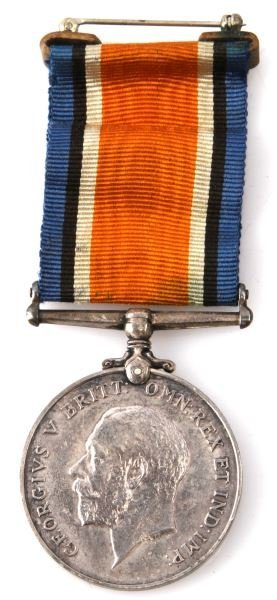 WWI BRITISH WAR SILVER CAMPAIGN MEDAL 1919