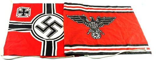 WWII THIRD REICH GERMAN STATE WAR & VETERANS FLAGS