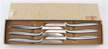 GERBER MIMING STAINLESS STEEL STEAK KNIFE SET OF 6