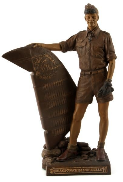 WWII COLD CAST BRONZE HANS JOACHIM BY RICK TERRY