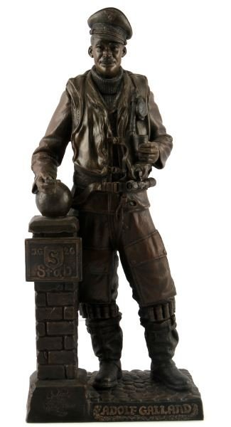 COLD CAST BRONZE WWII ADOLF GALLAND BY RICK TERRY