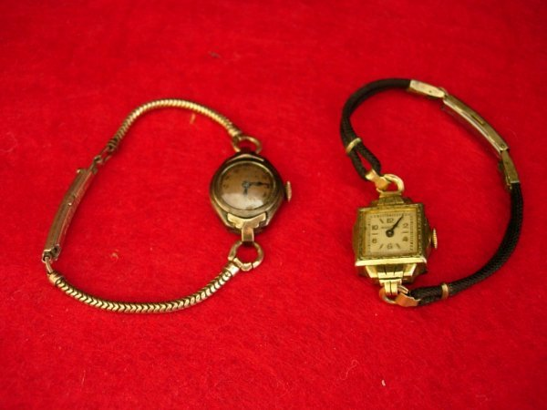 3: ANTIQUE BULOVA WATCH LOT OF 2 10K ROLLED GOLD PLATE