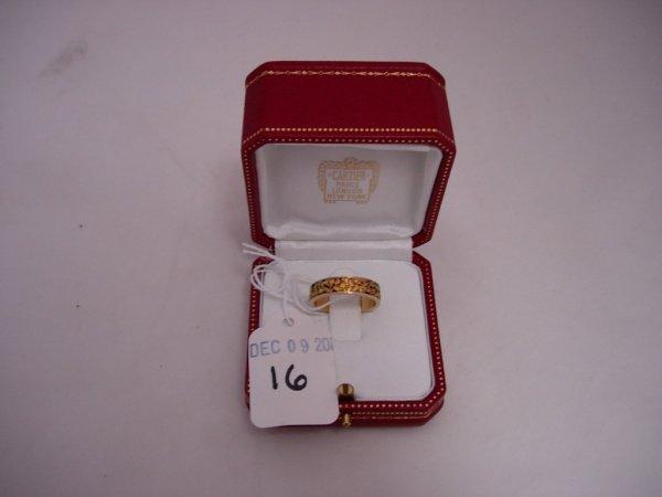 16: ALASKAN GOLD NUGGET  RING 14K GOLD BAND W INLAID AL