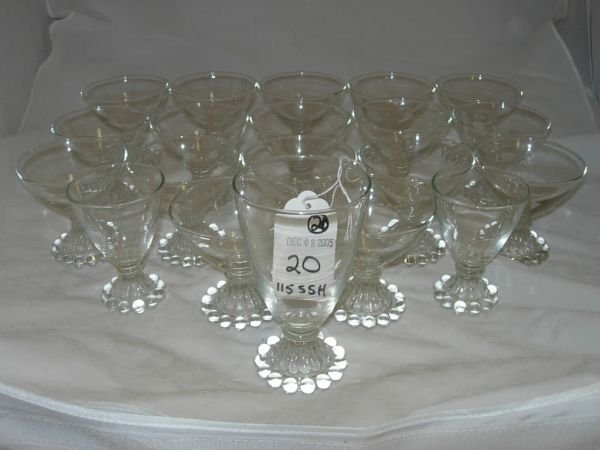 20: BOOPY GLASS LOT OF 19 FOOTED GOBLET WHISKEY WINE