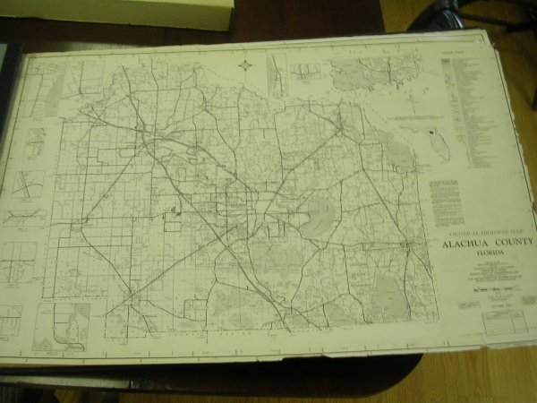 22: FLORIDA COUNTY MAP BOOK 1970'S LARGE LEATHER BOUND