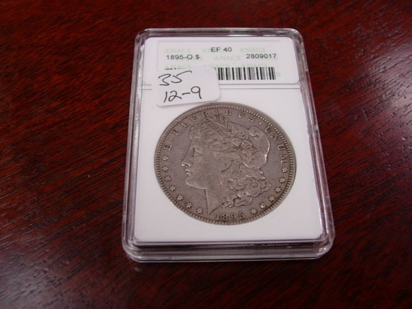 35: MORGAN SILVER DOLLAR 1895-O KEY DATE ANACS EF40