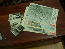 108 WWII JAPANESE BROADSIDE PROPAGANDA W PHOTO LOT OF