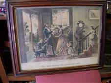 204: CURRIER IVES LITHOGRAPH THE FOUR SEASONS OF LIFE M