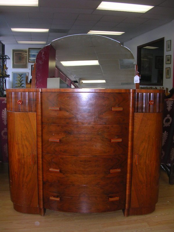 259: AMERICAN ART DECO CHEST OF DRAWERS MAPLE ART DECO