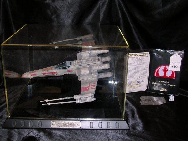 260: STAR WARS LUKE SKYWALKER X-WING STARFIGHTER SIGNAT