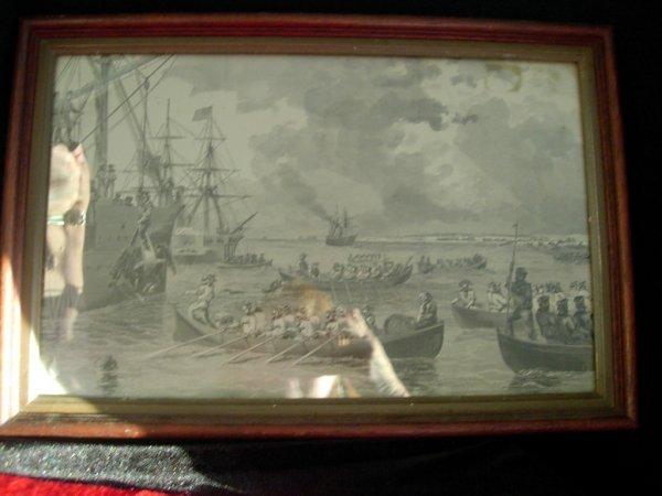 268: CIVIL WAR PRINT FT. PICKENS FLORIDA ANTIQUE PRINT