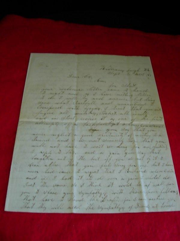 272: CIVIL WAR LETTER 1862 WILLIAMSBURG VA CORP HA GREE