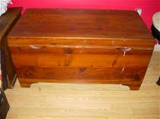 480 ANTIQUE RED CEDAR CHEST MARKED FEDERAL EQUIPMENT C