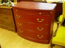 372 ANTIQUE CHEST OF DRAWERS BURGUNDY PAINTED OAK CHES