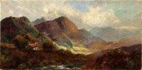 Joel Owen (british, 1891-1931) Oil Landscape