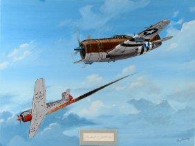 Signed Johnson's Thunderbolt Ray Waddey Painting