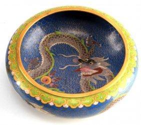 "Dragon Cloisonne Bowl 6"" Diameter"