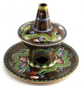 Chinese Cloisonne 4 Piece Incense Burner
