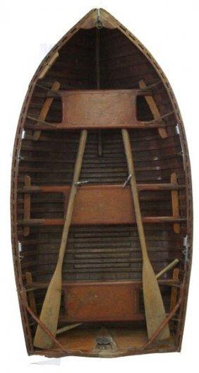 1936 Penn Yan 7 Ft Wood & Canvass Dinghy Boat