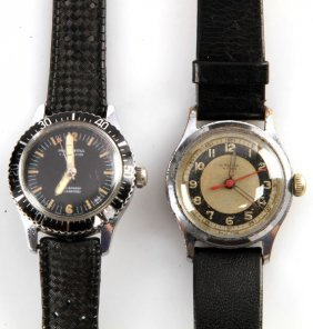 Two Vintage Mid-size Watches For Military Use