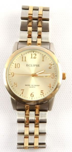"""Mens Steel Case """"eclipse"""" Watch With Date"""
