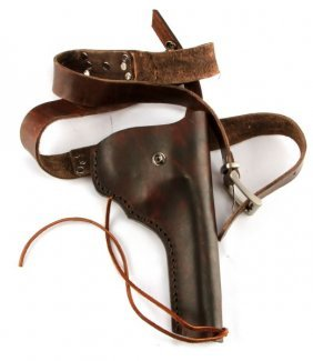 Leather Revolver Holster Rig