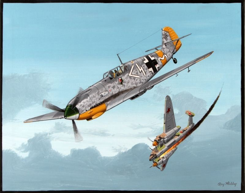 SS MAJOR R. HEYDRICH FLYING OVER RUSSIAN FRONT