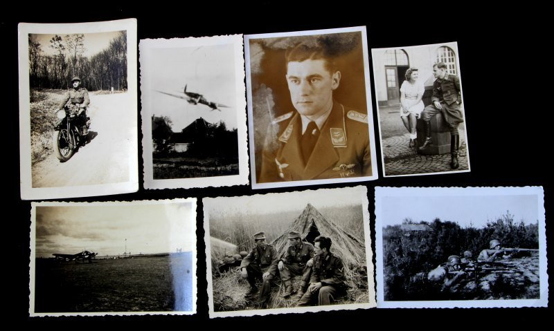 7 WWII THIRD REICH PHOTOS SOLDIERS AIRCRAFT