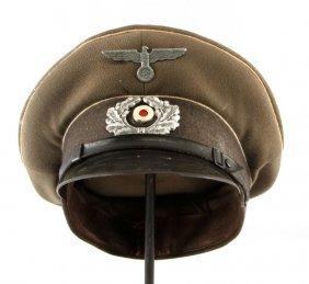 Wwii German Wehrmacht Nco Peaked Visor Cap