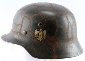 M40 Wwii German Single Decal Chicken Wire Helmet