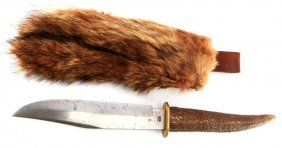 Antique Pic Solingen Bowie Knife Native American