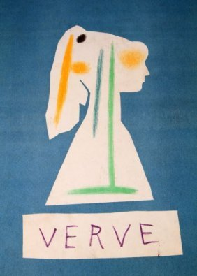 Picasso Drawing Within Cover Of Verve Cover Only
