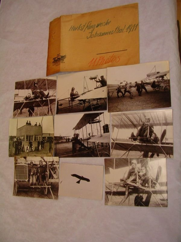 1010: OSKAR URSINUS FLUGSPORT 1911 AIRSHOW PRESS PHOTO