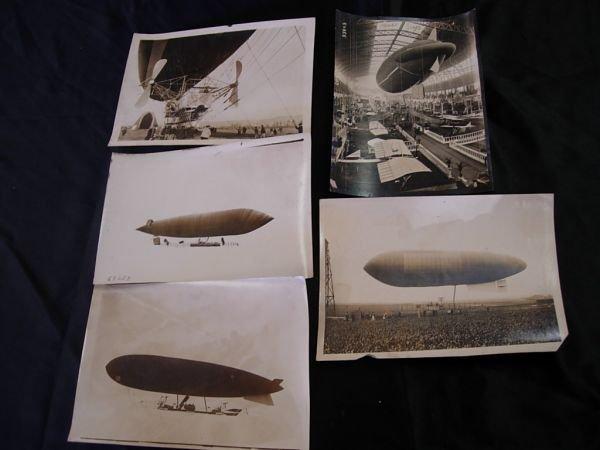1122: WWI 1911 GERMAN ZEPPELIN ZODIAC BLIMP PHOTO LOT 5