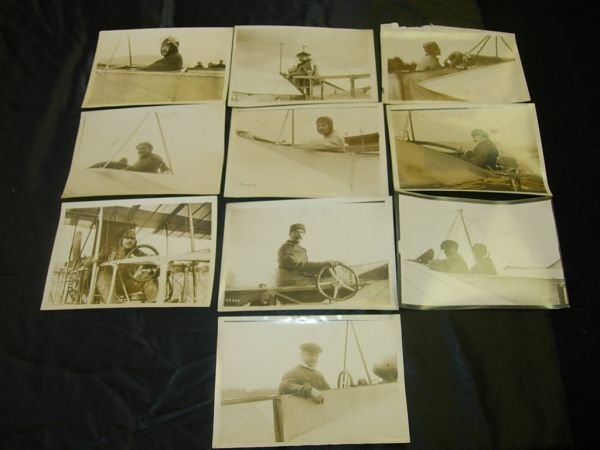 1196: AVIATION PIONEER PHOTO LOT VEDRINE BURGEAT AUBRUN