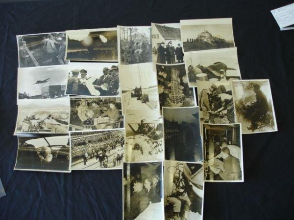 1019: WWII GERMAN PRESS PHOTO LOT OF 21 PLANE ARTILLERY