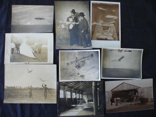 1021: ANTIQUE AVIATION 1911 ORIGINAL PHOTO LOT OF 9