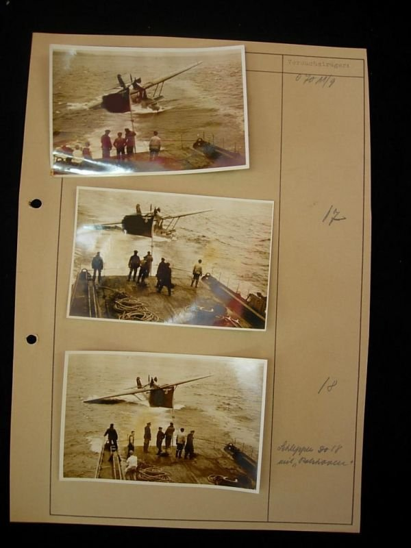 2085: WWII GERMAN FLYING BOAT TOWING PHOTO LOT 100+ - 6