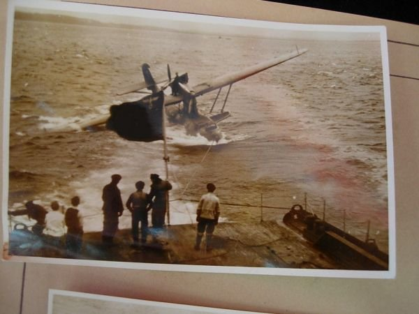 2085: WWII GERMAN FLYING BOAT TOWING PHOTO LOT 100+ - 7